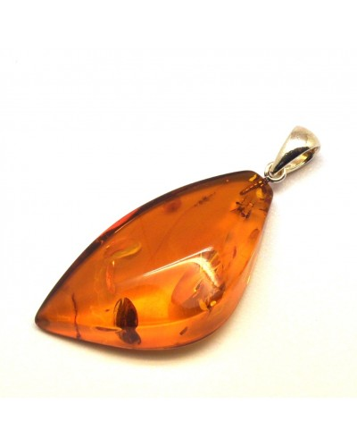 Cognac color Baltic amber pendant